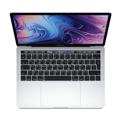 MacBook Pro 13-inch with Touch Bar: 2.3GHz Quad-core Intel Core i5, 512GB -Silver | Eye-opening graphics performance. Tradeline Apple