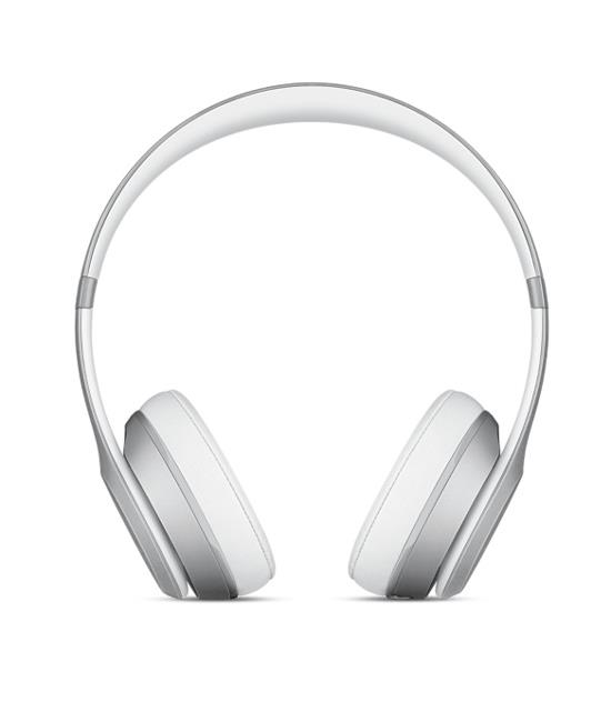 Beats Solo2 Wireless Headphones - Silver | Tradeline Egypt Apple
