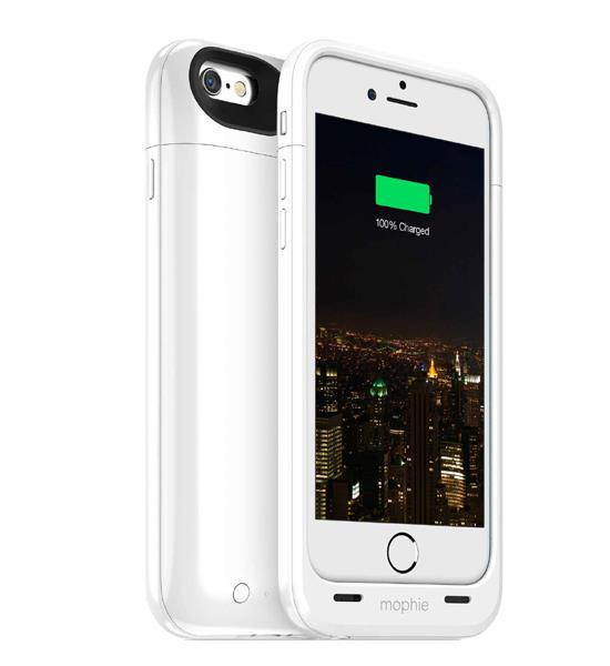 Mophie Juice Pack Plus 120 Percent for iPhone 6 White | Tradeline Egypt Apple
