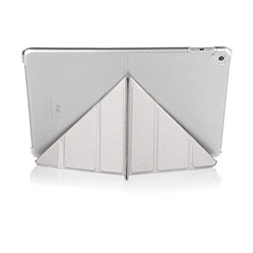 "Pipetto iPad 9.7"" Origami Case - Silver & Clear"