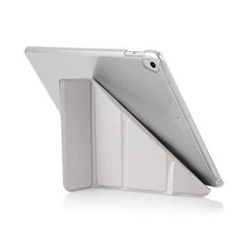 "Pipetto iPad 9.7"" Origami Case - Silver & Clear 