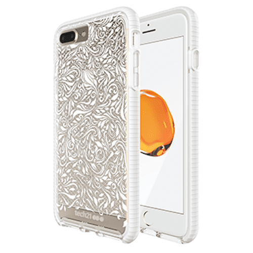 Tech21 Evo Check Lace Edition iPhone 7/8 Plus Clear/White
