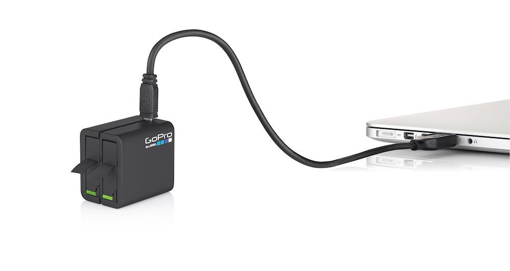 GoPro Dual Battery Charger + Battery | Conveniently charges two HERO4 Black or HERO4 Silver camera batt Tradeline Apple