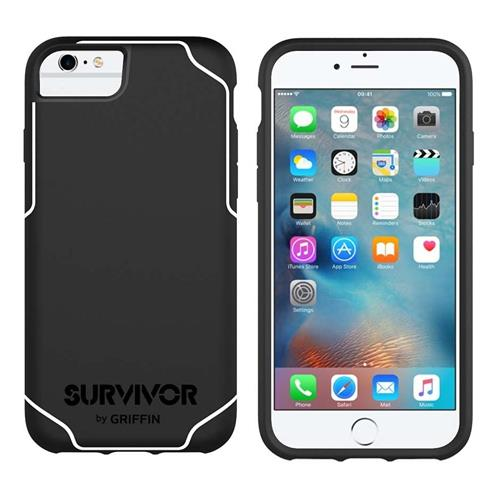 Griffin Survivor Journey For iPhone 6, 6s  Black/White | Tradeline Egypt Apple