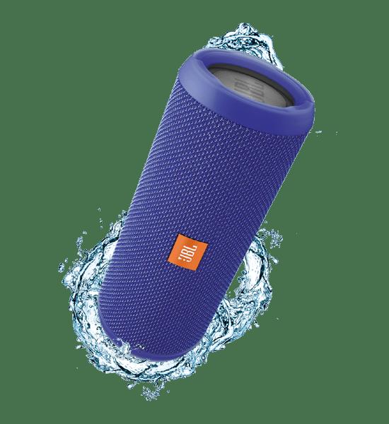 JBL Flip 3 Speaker Blue | A Splashproof Design and Clip-on Convenience Tradeline Apple