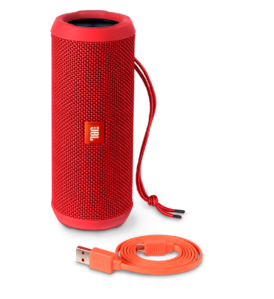 JBL Flip 3 Speaker Red | Built-in Microphone and Rechargeable Battery Tradeline Apple