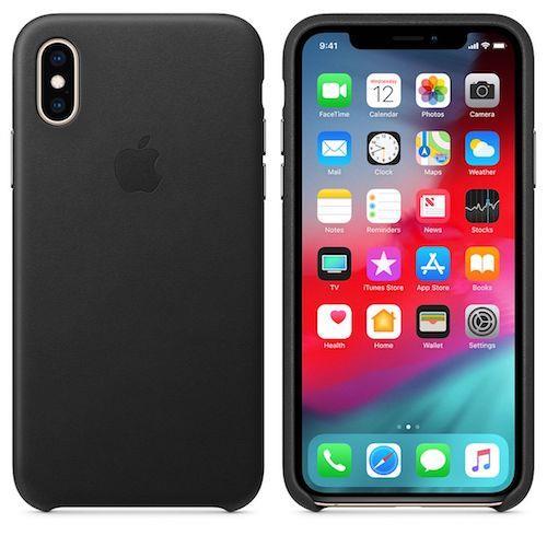 iPhone XS Leather Case - Black | Tradeline Egypt Apple