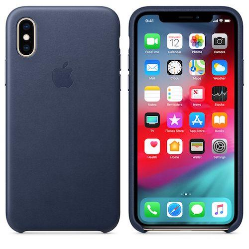 iPhone XS Leather Case - Midnight Blue | Tradeline Egypt Apple