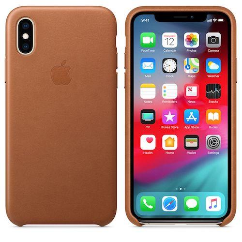 iPhone XS Leather Case - Saddle Brown | Tradeline Egypt Apple