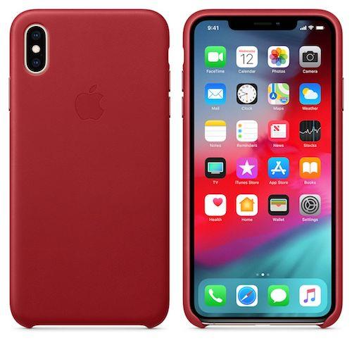 iPhone XS Max Leather Case - ( Product ) RED | Tradeline Egypt Apple