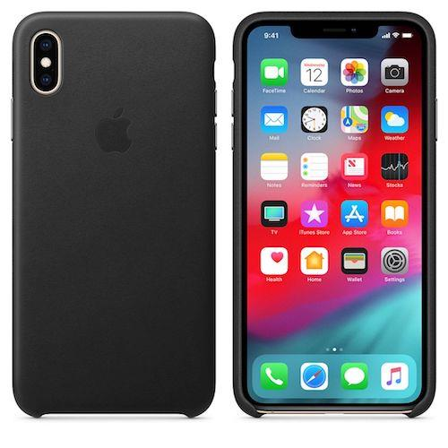 iPhone XS Max Leather Case - Black | Tradeline Egypt Apple