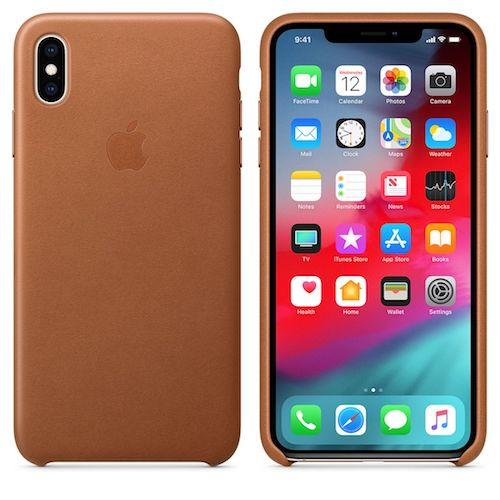 iPhone XS Max Leather Case - Saddle Brown | Tradeline Egypt Apple