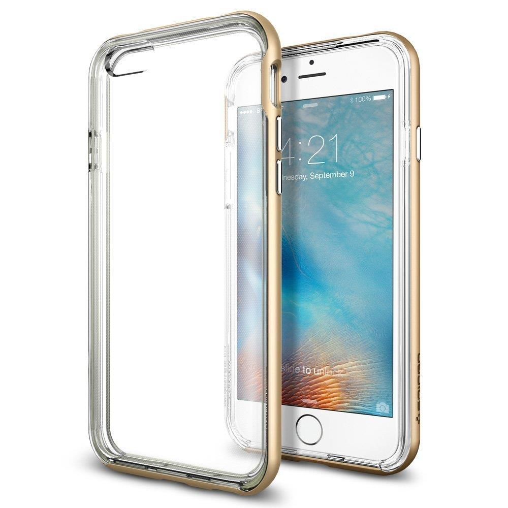 Spigen Neo Hybrid EX Metalized Buttons for iPhone 6s/6 Gold | Tradeline Egypt Apple
