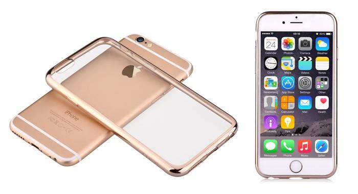 Devia Fresh For 6/6S Champagne Gold | Curve edge aluminum bumper, anti-scratch and shock resistance. Tradeline Apple