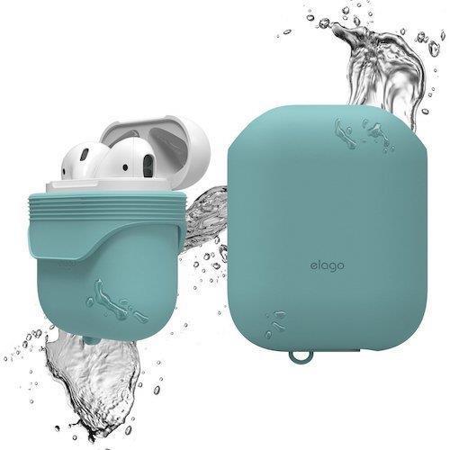 Elago AirPods WaterProof Case Coral Blue | Tradeline Egypt Apple