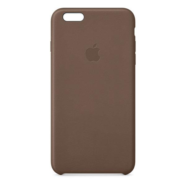 Apple iPhone 6 Leather Case Olive Brown | Tradeline Egypt Apple