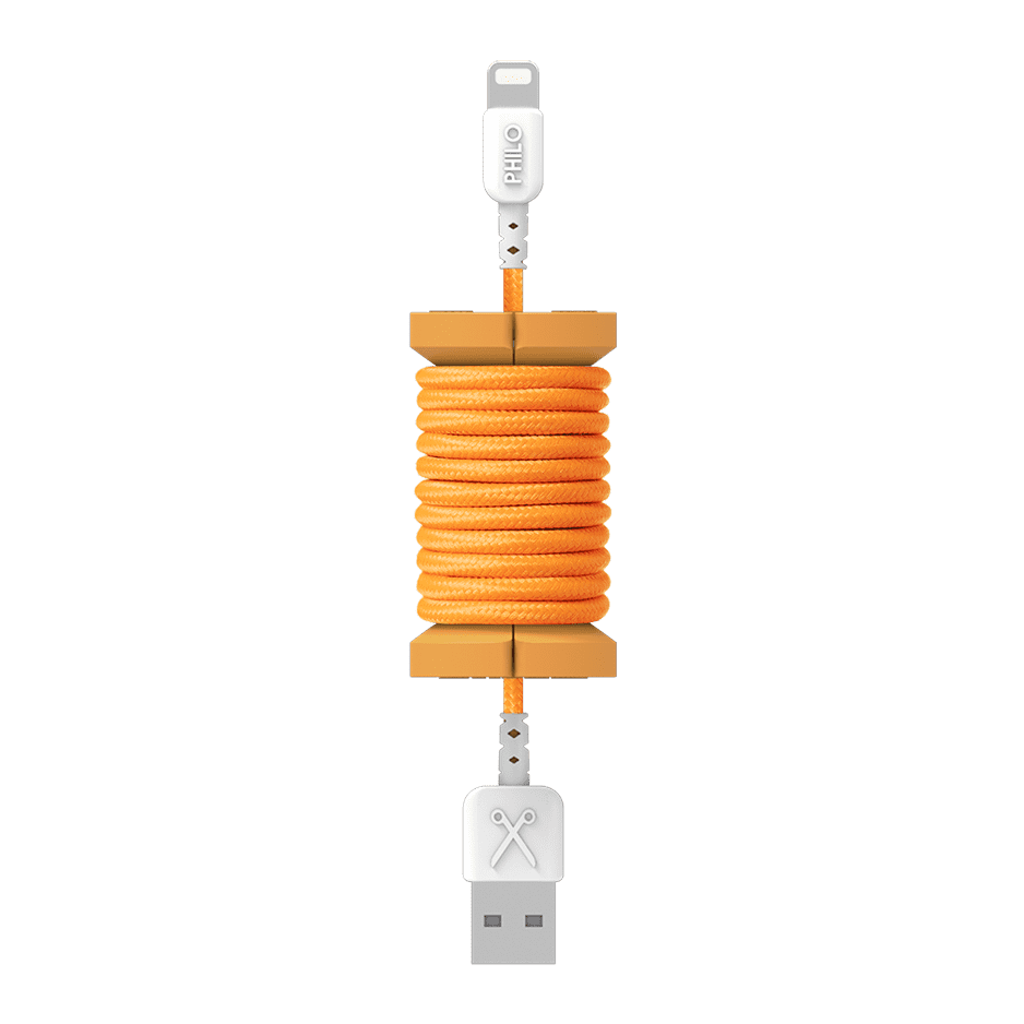PHILO Spool Cable Neon Orange