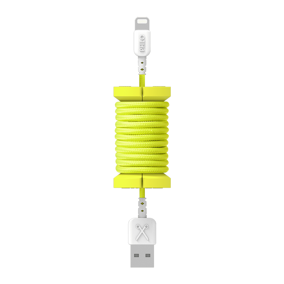 PHILO Spool Cable Neon Yellow